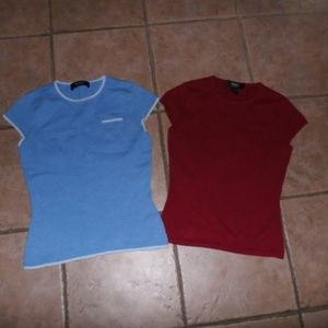 Cashmere Sweater Lot-2 Sz S-Red/blue!
